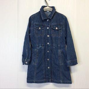 GAP KIDS Girls Denim Dress Sz 7-8 M #